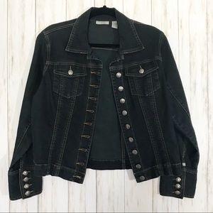 Chico's Black Denim Jacket | Size 1